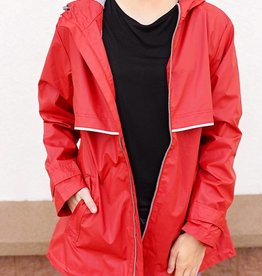New Englander Rain Jacket - Red