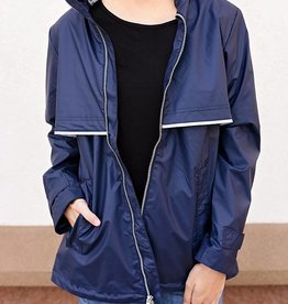 CHARLES RIVER New Englander Rain Jacket - True Navy