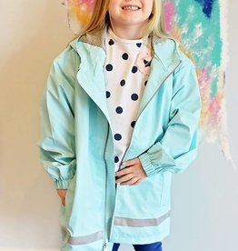 Youth New Englander Rain Jacket - Aqua