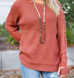 Just My Type Sweater - Terracota