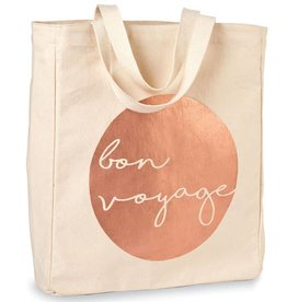 Travel Canvas Tote- Bon Voyage
