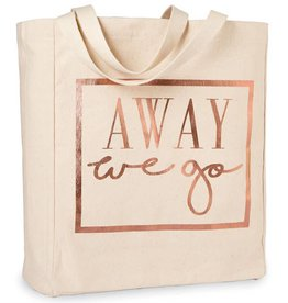 Travel Canvas Tote- Away We Go