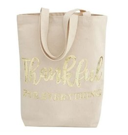 Sequin Canvas Tote - Thankful For Everything