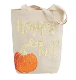 Sequin Canvas Tote - Happy Fall