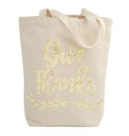 Sequin Canvas Tote - Give Thanks