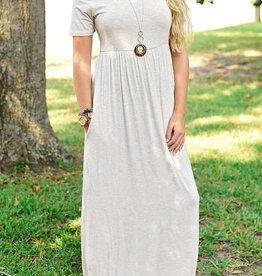 Sweet and Innocent Maxi Dress - Oatmeal