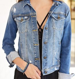 Boho Chic Denim Jacket- Medium Light