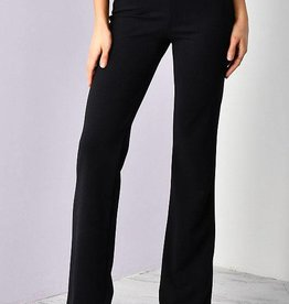 Stand By Me Straight Leg Pants - Black
