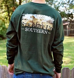 SUS Golden Retriever Scene- LS- Forest Green