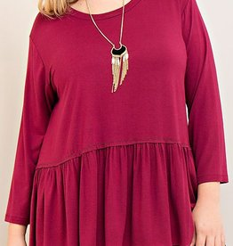 The Simplest Joys Top - Burgundy