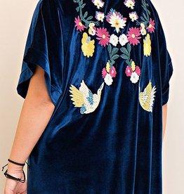 Escape From Everyday Velvet Kimono - Midnight