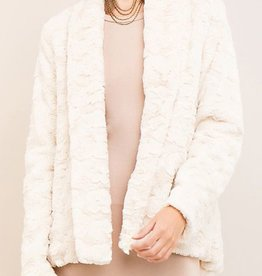 Warm Fuzzy Feelings Faux Jacket - Natural