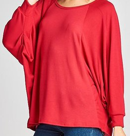 New Favorite Oversize Top - Red