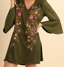 Crazy Thankful Dress - Olive