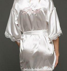 """Satin """"Bride"""" Robe - White"""
