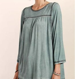 Look At Me Tunic- Blue Sage