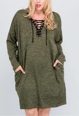 Ways Of My Heart Dress - Olive