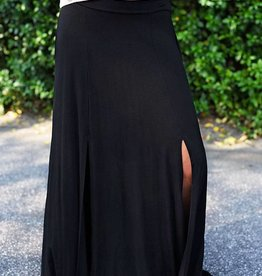 Give It A Whirl Long Skirt - Black