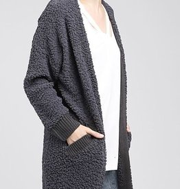 Warm and Cozy Cardigan - Charcoal