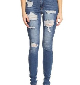 Shredded Love Jeans - Blue