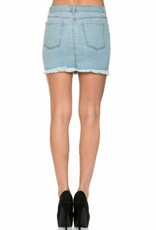 Ready For Fun Denim Skirt - Light Wash