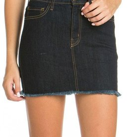 Ready For Fun Denim Skirt - Indigo