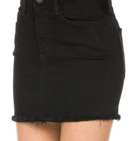 Ready For Fun Denim Skirt - Black