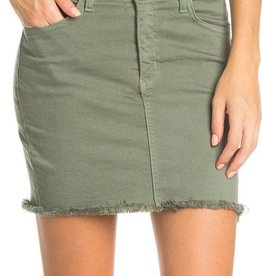 Ready For Fun Denim Skirt - Olive
