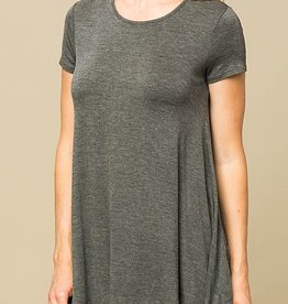 My Lucky Day Tunic - Charcoal