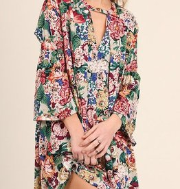 Flowers in the Wind Dress - Taupe Mix