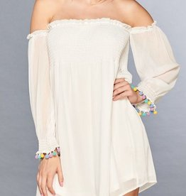 Angelic Off The Shoulder Dress - Off White