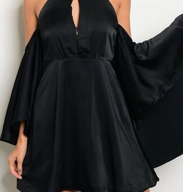 A Night To Fall In Love Dress - Black