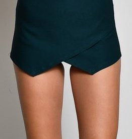 Off She Goes Skort - Hunter Green