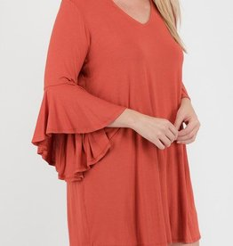 You Will Know Me High Neck Dress - Soft Brick