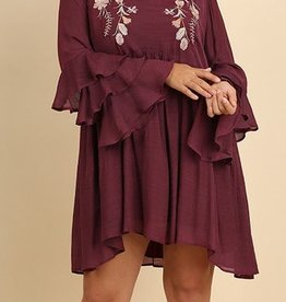 With Grace Dress - Mulberry