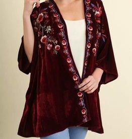 It Gets Better Kimono - Wine