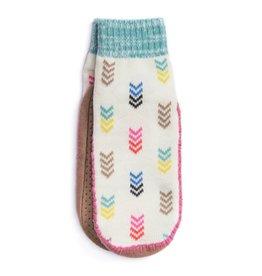 Muk Luks Short Slipper Sock- Multi Fletching