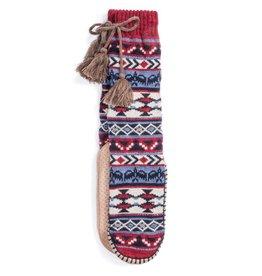 Muk Luck Slipper Sock- Bird Fairsle