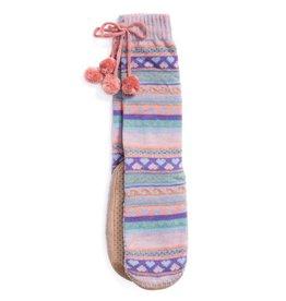 Muk Luks Slipper Sock- Fairisle