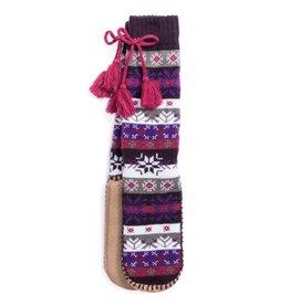 Muk Luks Slipper Sock- Snowflake Nordic