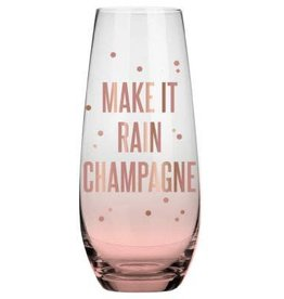 Rain Champagne 10oz Stemless Champagne Glass