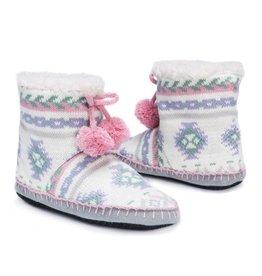 Muk Luks Bootie Slippers- Fairisle