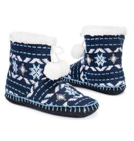Muk Luks Bootie Slippers- Tribal Snowflake