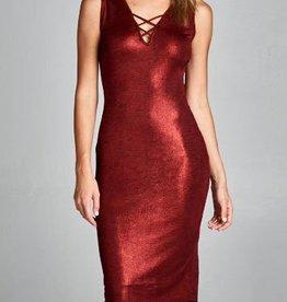 Annie My Love Dress - Crimson