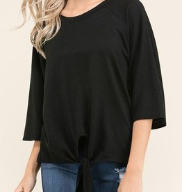 Simple Addition Top - Black