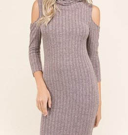 Warmest Moments Dress - Dusty Mauve