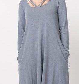 My Favorite Love Dress - Grey Denim