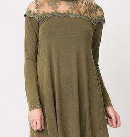 Social Butterfly Dress - Olive
