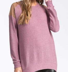 No Time To Waste Sweater - Mauve