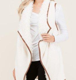 Coziest Dreams Fur Vest - Cream